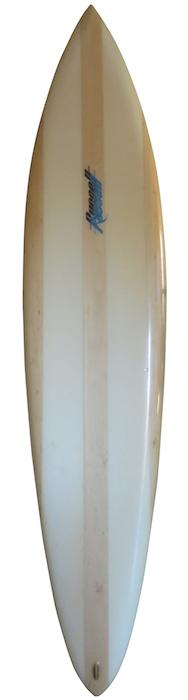 Russell surfboard by Mike O'Day foam/balsa 7'8 single fin (1975) | All original