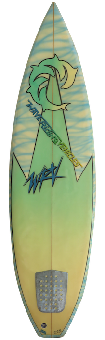 Wave Riding Vehicles (WRV) thruster by Mike Doyle (early 1980's)