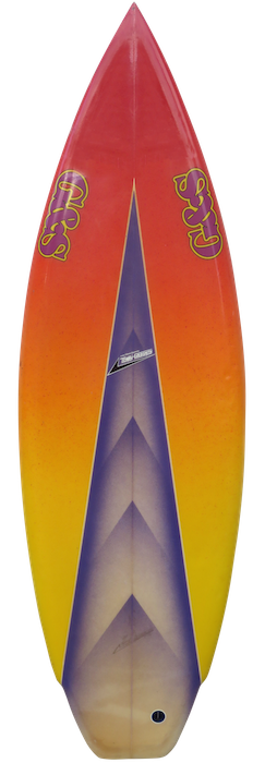 G&S shortboard by Terry Goldsmith (mid 1980's)