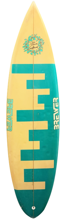 Dick Brewer thruster surfboard (late 1980's)