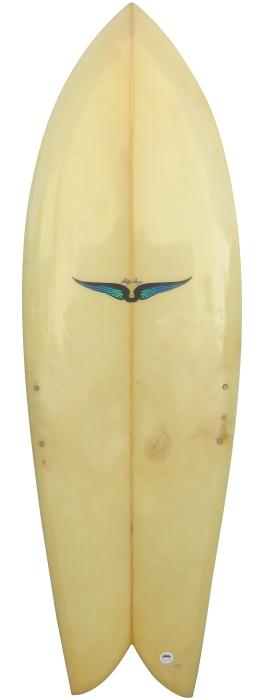 Details about  /Vintage HOBIE 10/' SurfBoard TRIPLE STRINGER Wood Tail Deck LongBoard NICE