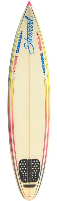Stewart surfboard shaped by Bill Stewart (late 1980's)