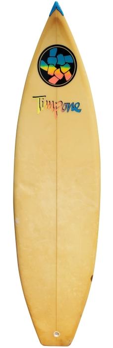 Huntington Beach Brotherhood surfboard by Jeff Timpone (mid 1980's)