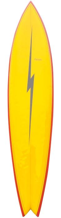 Lightning Bolt surfboard by Don Koplien (early 1970's)