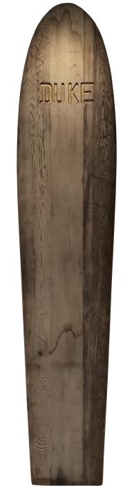 Duke Kahanamoku personal redwood plank surfboard (1920's)