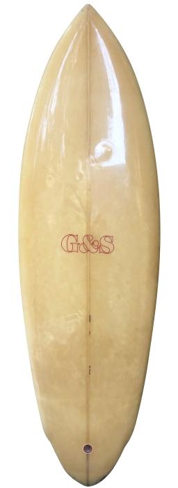 Gordon & Smith (G&S) twin-fin surfboard (1980's)