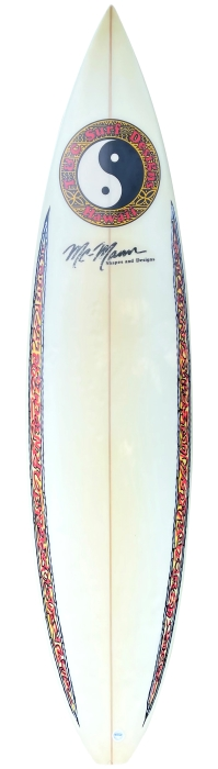 Town & Country (T&C) surfboard by Ned McMann (1994)